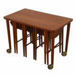 modern mobler drop leaf accent table danish teak rolling cart nesting tables white trunk coffee narrow side for bedroom piece set nautical desk rustic living room beach themed 150x150