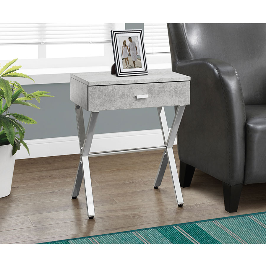 modern nightstands astoria gray cement side table eurway room accent nightstand narrow hallway console cabinet living armchair round cocktail cloths ave six piece fabric chair and