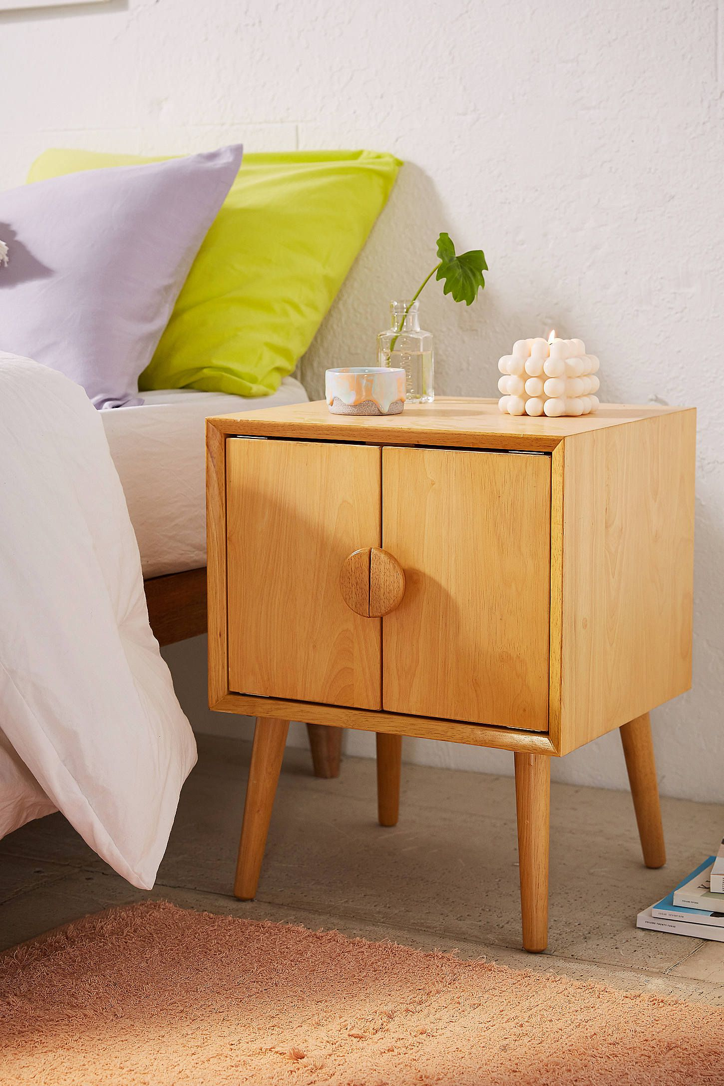 modern nightstands for every bedroom style chic bedside tables tachuri accent table target make your own barn door cherry wood corner green french round side small white cabinet