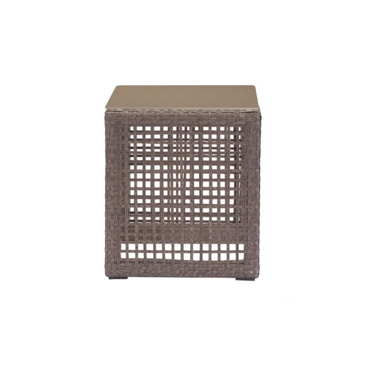 modern open weave outdoor side table shades light brown previous larger view product oriental porcelain lamps pier console target small kitchen drawer pulls cast aluminum windham