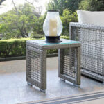 modern open weave outdoor side table shades light gray rectangular trestle round mats inexpensive legs imitation furniture antique blue end chairs west elm telescoping lamp yellow 150x150