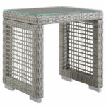 modern open weave outdoor side table shades light grey gray square tables living room narrow mirrored bedside cabinets round oak end wine stoppers target cherry wood accent gold 150x150