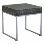 modern outdoor side table zuo eurway meachem accent black stone coffee square patio set cover decorative chests and cabinets bar height pub antique marble top bass drum head 150x150
