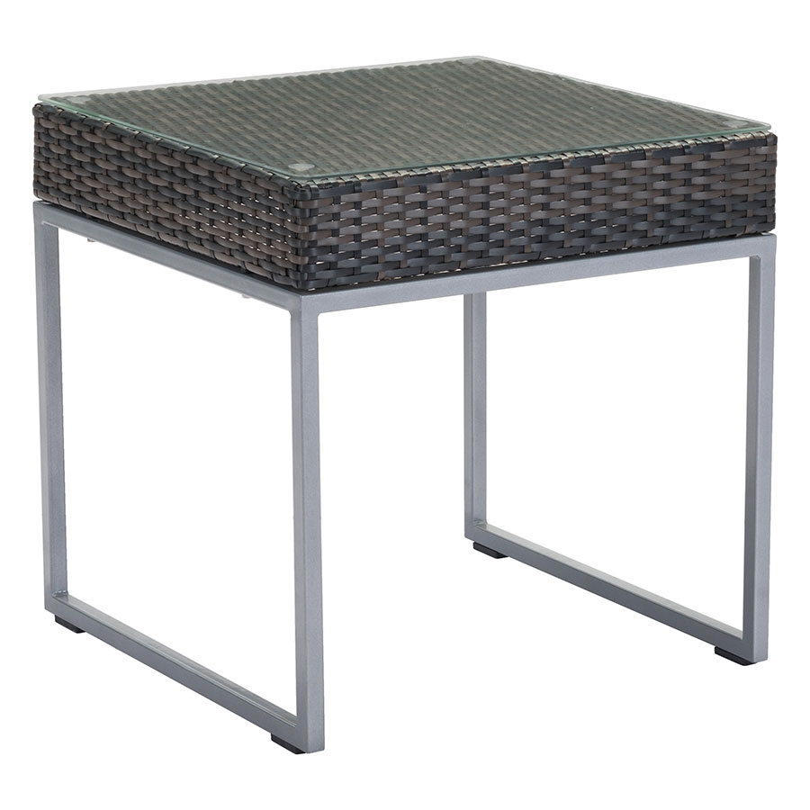 modern outdoor side table zuo eurway meachem accent black stone coffee square patio set cover decorative chests and cabinets bar height pub antique marble top bass drum head