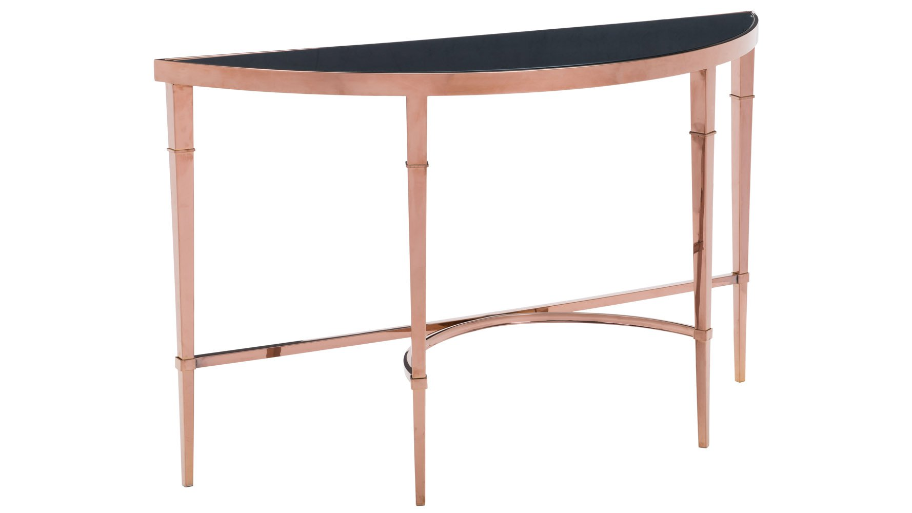 modern pascale glass console table rose gold black zuri furniture and accent patio chairs clearance aamerica heavy duty umbrella stand ikea pedestal chair set unusual bedside