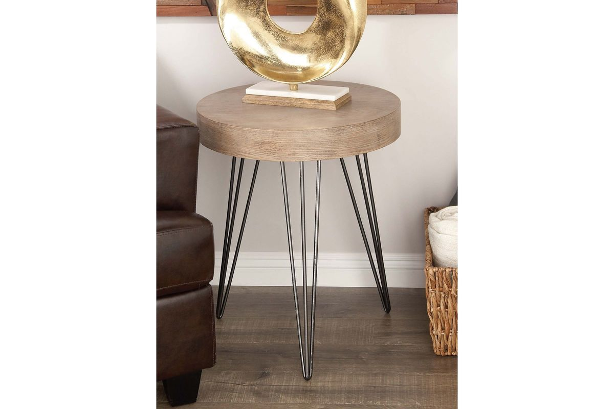 modern reflections drum shaped accent table gardner white share nesting bedside tables bathroom runner decorative floor lamp target yellow side nightstand bar top with stools