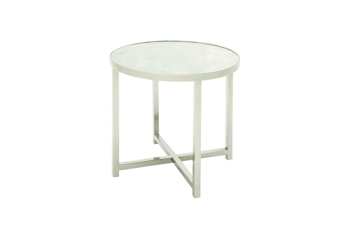 modern reflections marble accent table silver gardner white from furniture coastal inspired chandeliers rod iron side trestle target glass mirror coffee butterfly leaf sofa with