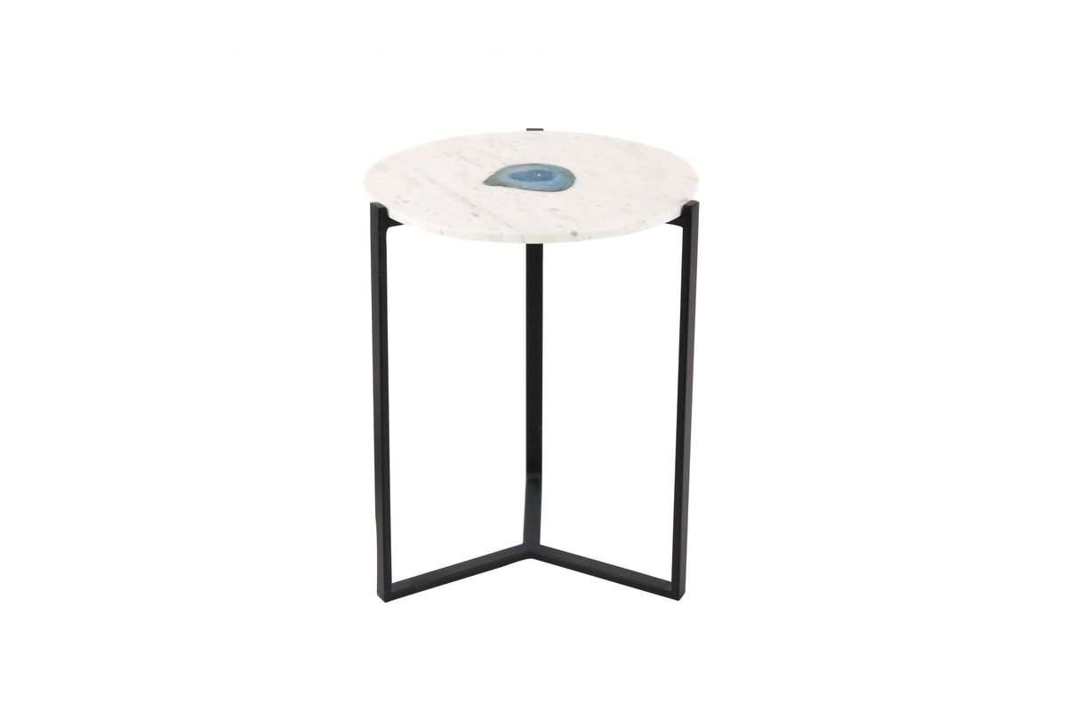 modern reflections marble agate accent table gardner white pedestal from furniture percussion box seat distressed round side outdoor living narrow hallway cabinet small sofas for