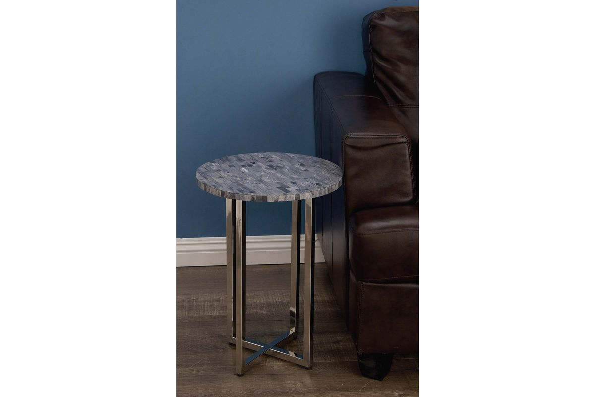 modern reflections round marble accent table dark grey share triangle nightstand hadley with drawer woven coffee pink slate top patio covers white and brown side furry chair