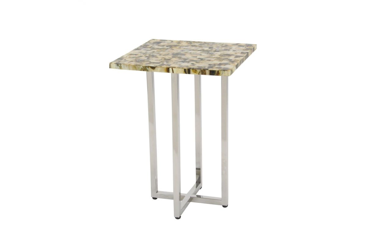 modern reflections square accent table beige uma from gardner white furniture moroccan drum marble top target patio seating sets clearance bdi mosaic outdoor set tiffany lily lamp