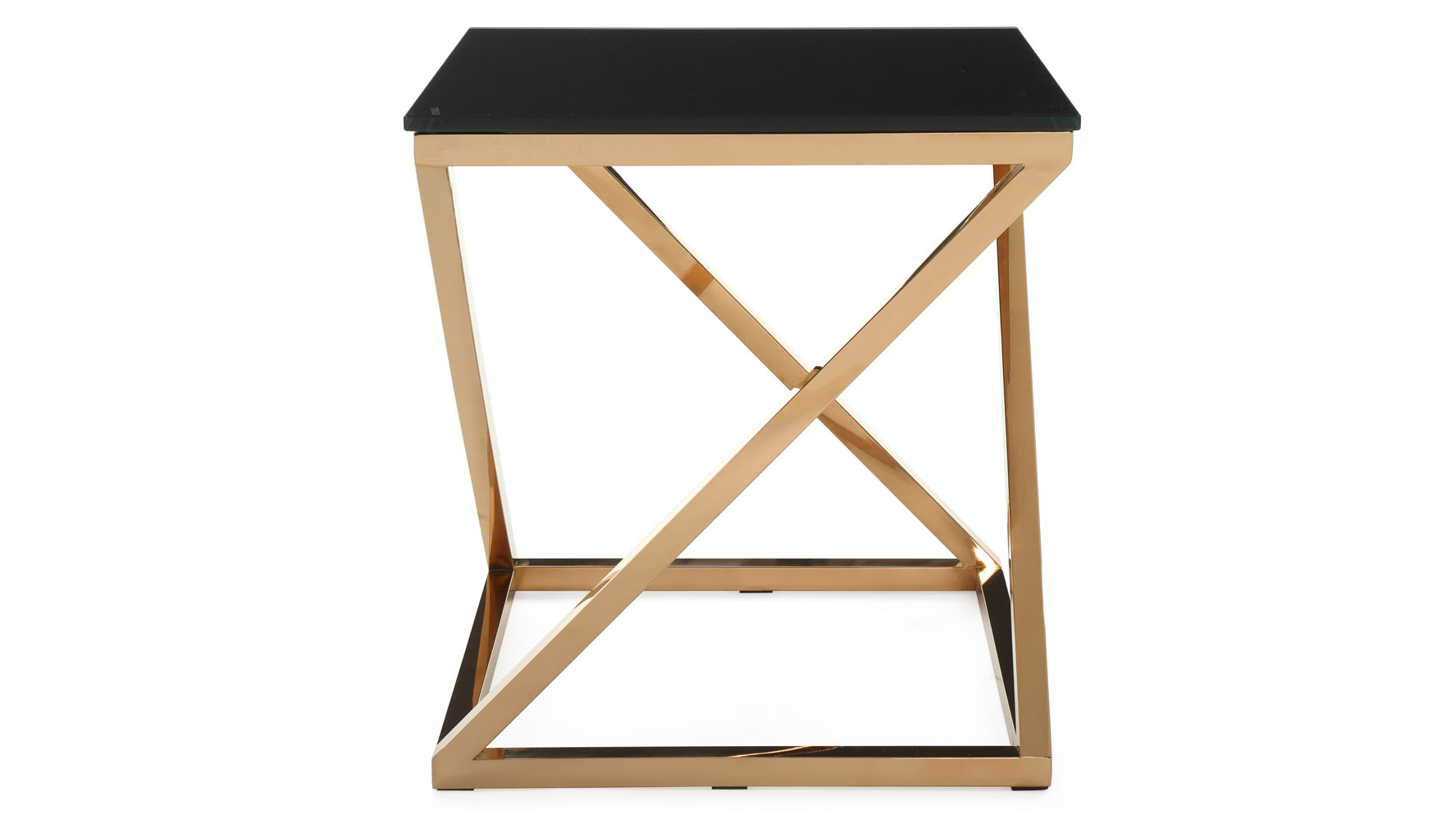 modern rose gold and black glass geo end table zuri furniture adjustable height accent reclaimed wood bombay white farmhouse dining target red waterford crystal lamps side with