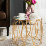 modern round accent table decor hotel odaurze designs gold battery operated desk light pottery barn rustic pedestal tablecloth home ping sites tama drum throne counter height 150x150