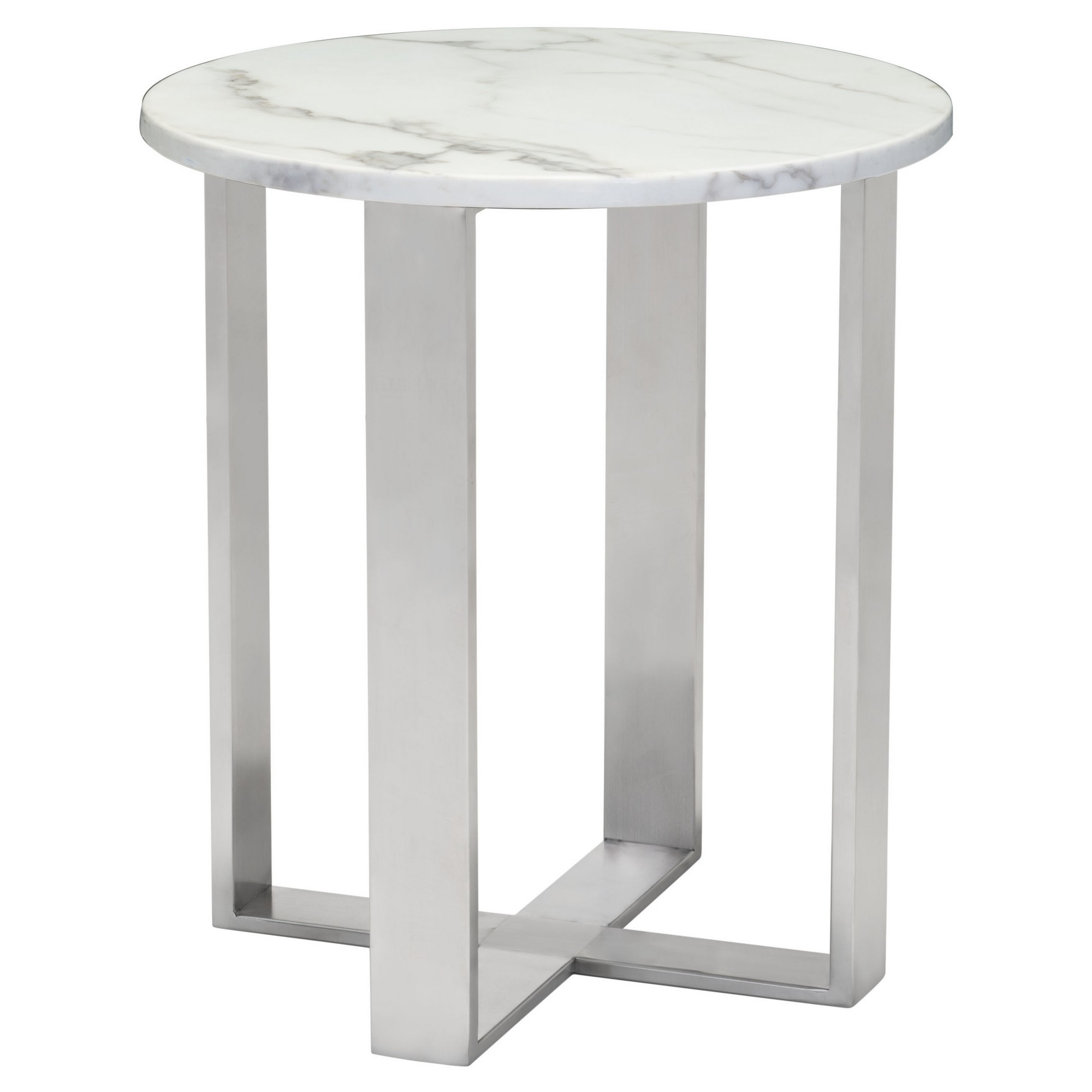 modern round faux marble side table stone grey brushed accent stainless steel home retro console small plastic garden white and oak storage solutions outside patio set goods lamps