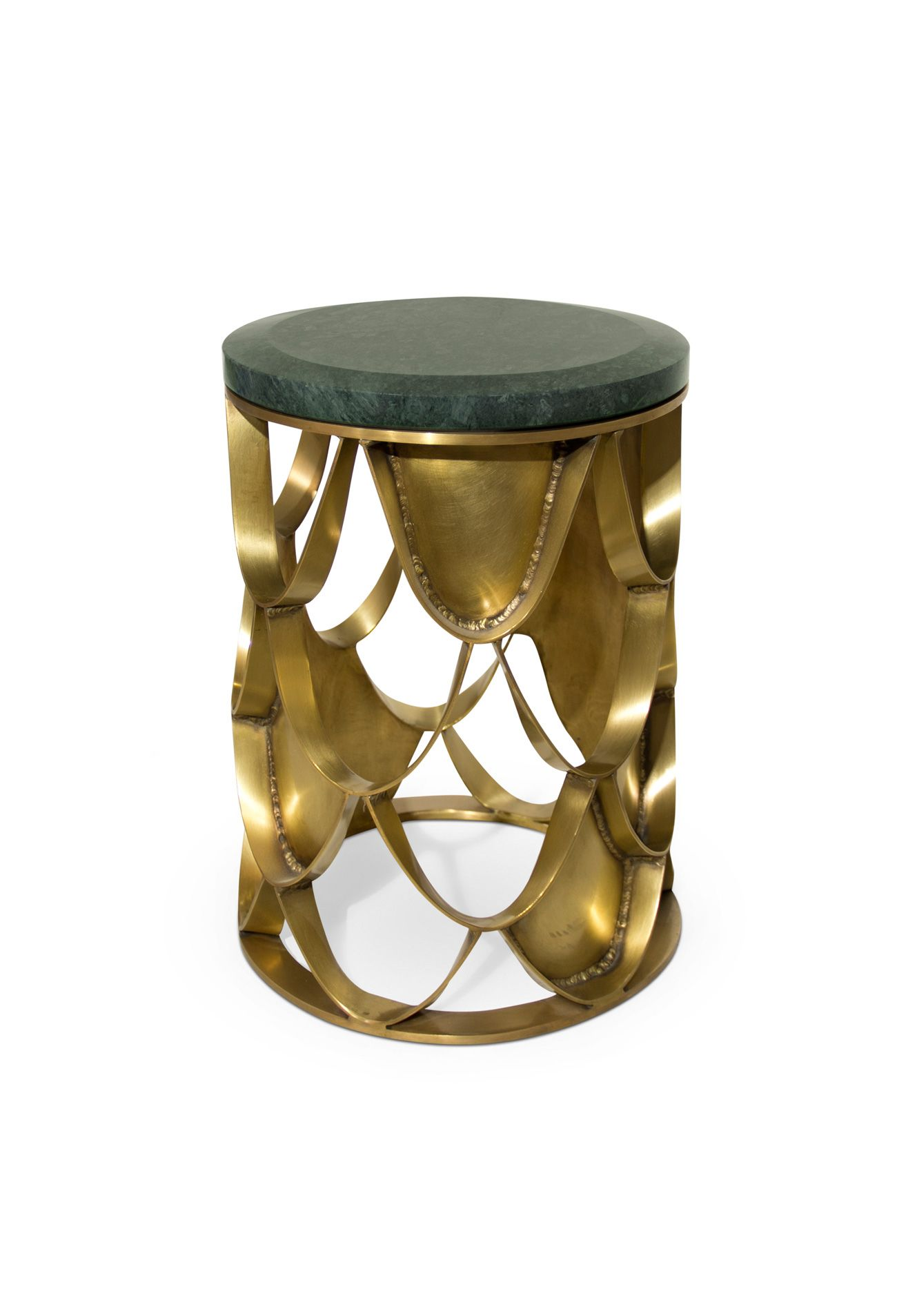 modern side table koi round and small with brushed bombay company marble top accent brass base green black outdoor wicker furniture sets clearance edmonton home decor furnishing