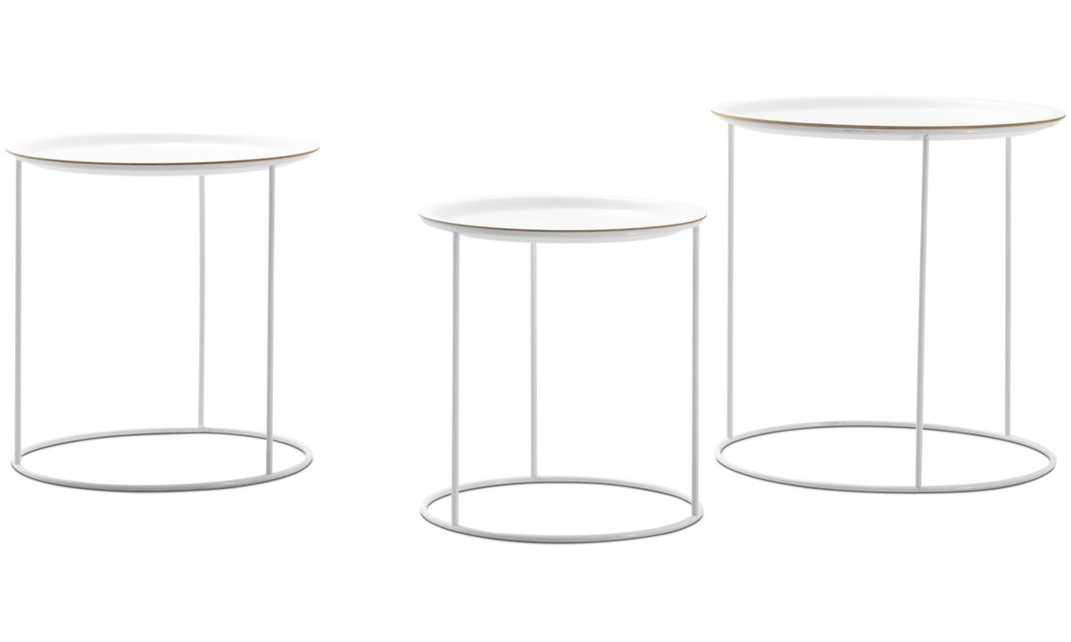modern side tables quality from boconcept knurl nesting accent coffee cartagena round white lacquered acrylic top table decor accents metal for furniture outdoor patio small large