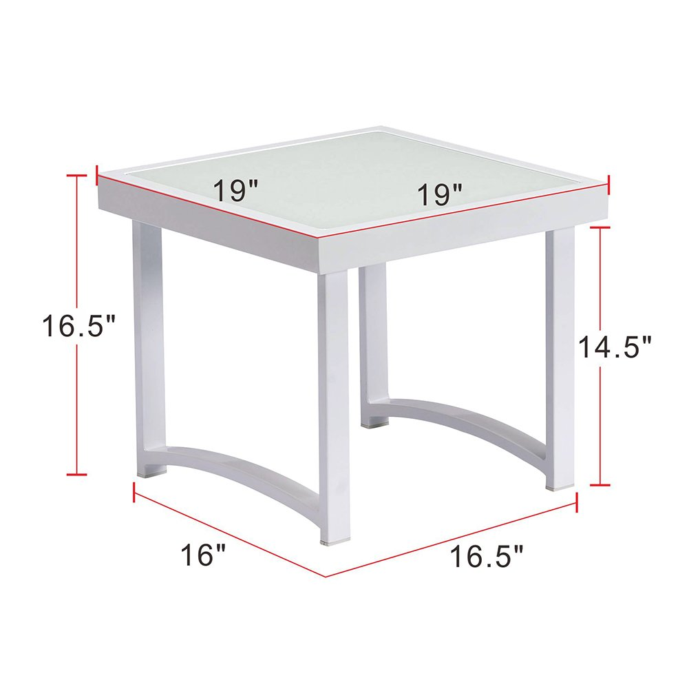 modern square end table for living room white rustic aluminum outdoor side art real tables patio tempered glass accent pier one ott cream lamp shades furniture edmonton weber
