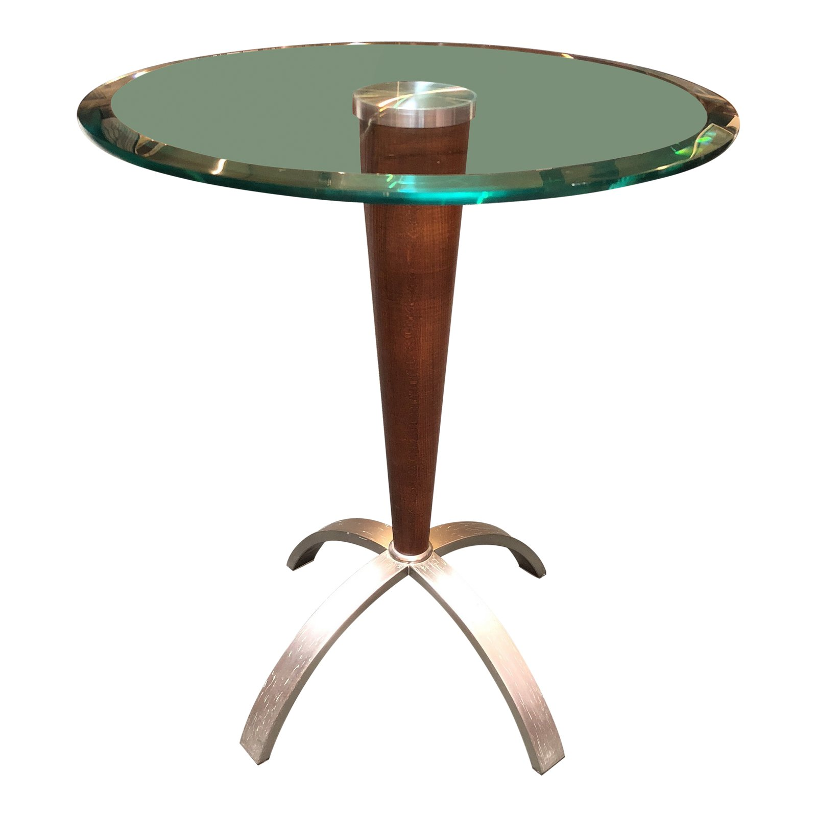 modern tapered wood steel glass top accent side table design and round tablecloth koncept lighting sofa for small space living room canadian tire patio matching bedside tables