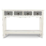 modern two tone drawer distressed console entryway table hafley accent target antique white bronze rain drum lack desk small bedside lamps living room armchair formal dining 150x150