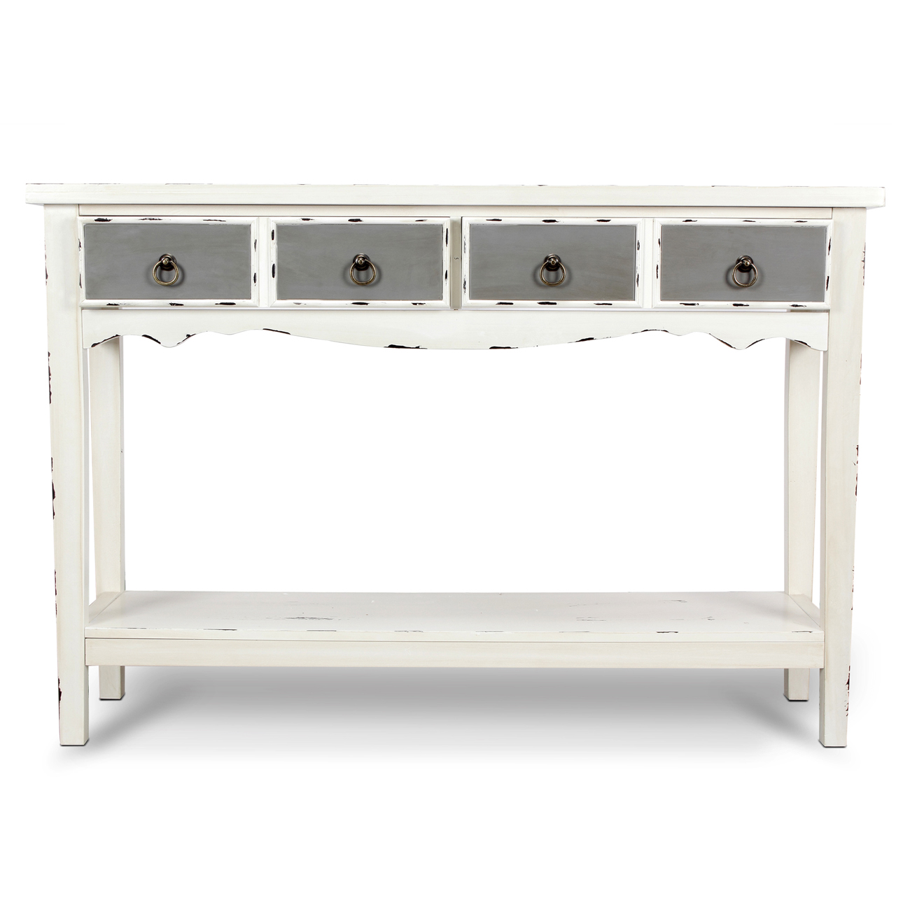 modern two tone drawer distressed console entryway table hafley accent target antique white bronze rain drum lack desk small bedside lamps living room armchair formal dining
