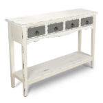 modern two tone drawer distressed console entryway table hafley accent target antique white silver and marble side cube coffee plastic patio lack desk farmhouse extension dining 150x150