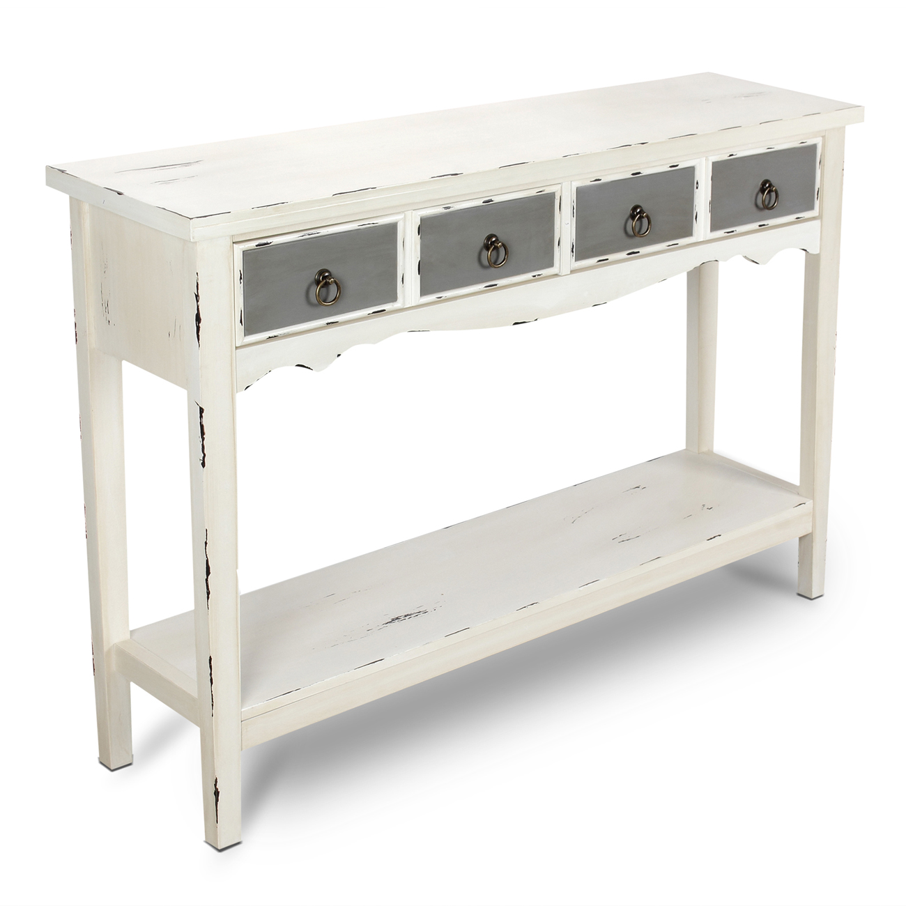 modern two tone drawer distressed console entryway table hafley accent target antique white silver and marble side cube coffee plastic patio lack desk farmhouse extension dining