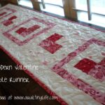 modern valentine table runner tutorial quilting life accent your focus now make quilt sandwich with top batting and backing desired then binding jcpenney shades bookcase kmart 150x150