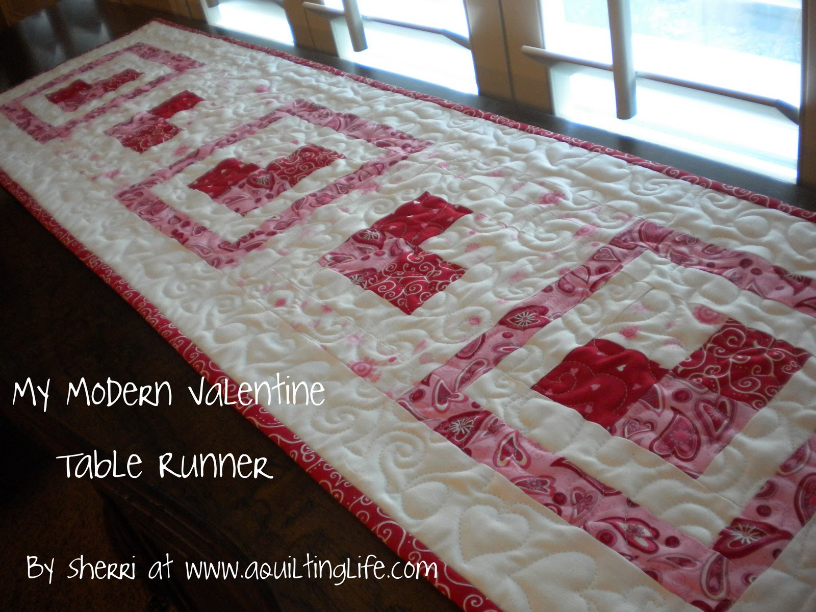 modern valentine table runner tutorial quilting life accent your focus pattern mine were long however measure the length topper before cutting shorter borders last wood and metal