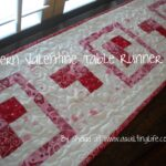 modern valentine table runner tutorial quilting life accent your focus super excited share with you today part the bemine blog tour this fun design that can dining mats designs 150x150
