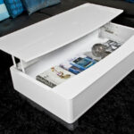 modern white gloss coffee table with large storage space accent tables light wood end threshold wicker cabinets and chests grey lamp round lucite side world market seaside themed 150x150