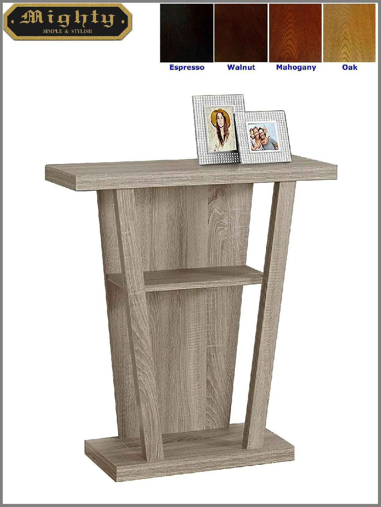 modern wooden tier hall console entrance accent table mighty wood college dorm accessories dining chairs black and brown end tables pottery barn set cute chair high bar white