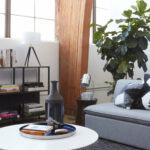 modern yet warm loft with the new project collection emily henderson target masculine neutral accent table small decor rose gold furniture pieces for living room barbecue grill 150x150