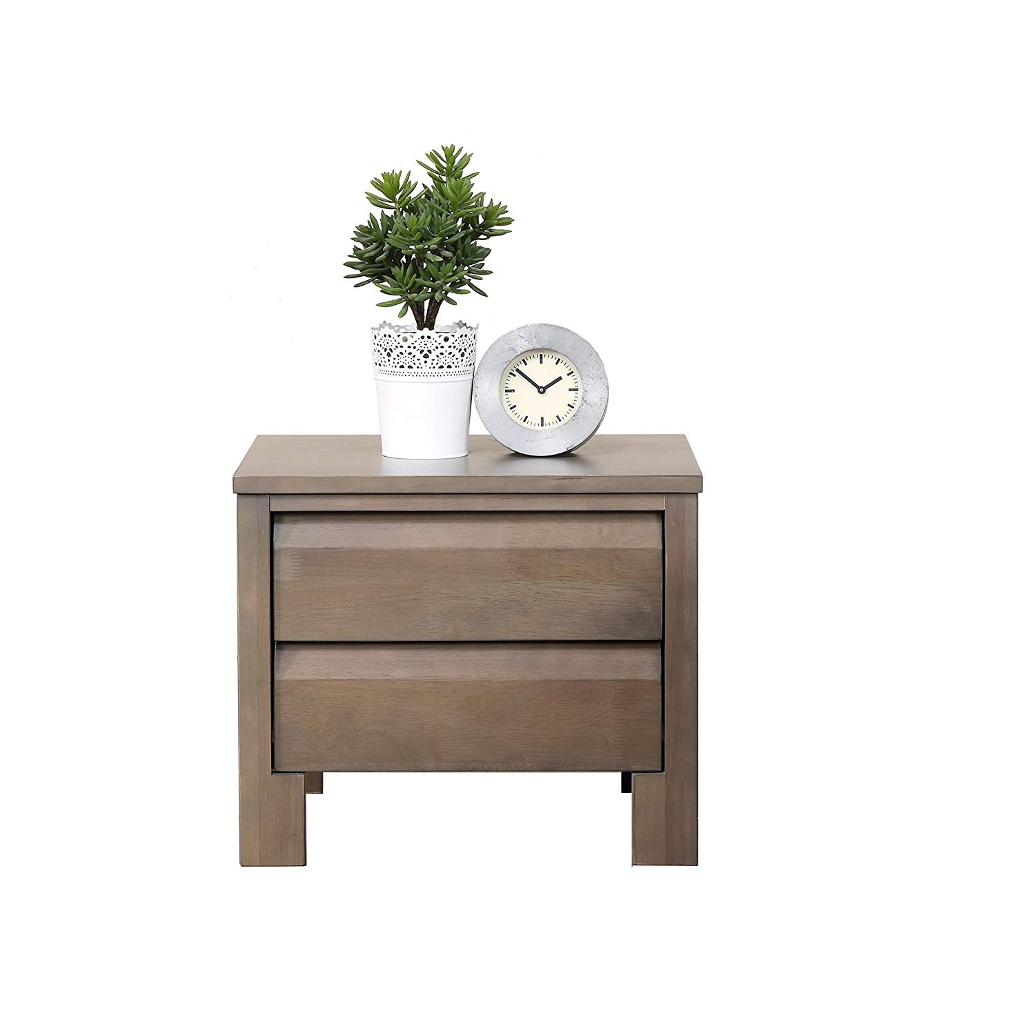 modhaus living modern wood accent end table night stand with drawer charcoal grey finish includes pen kitchen dining expandable furniture console shoe storage round screw legs