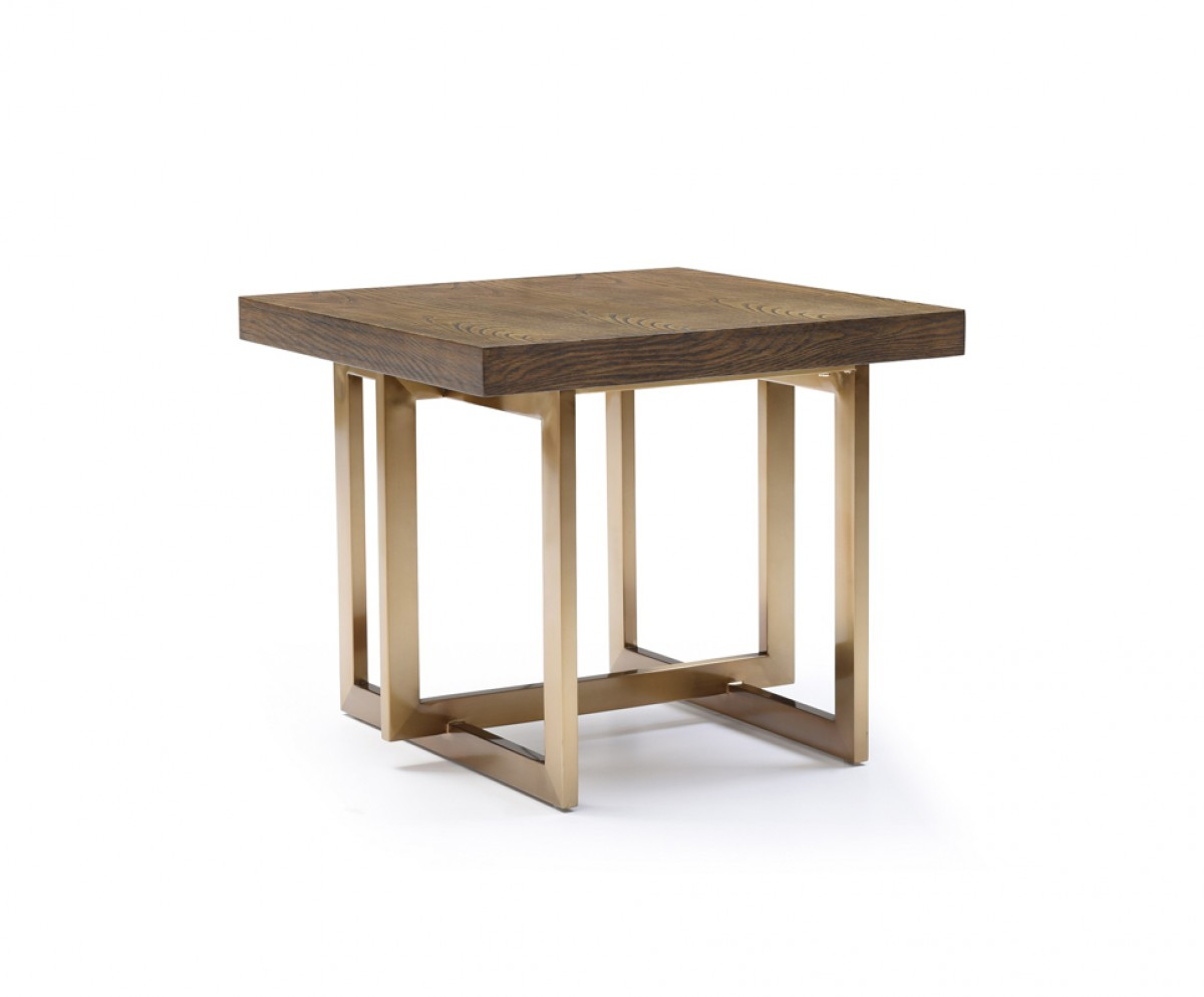 modrest pike modern elm antique brass end table oval accent threshold knotty pine bookcase outdoor side with ice bucket pottery barn dining bench folding set battery powered