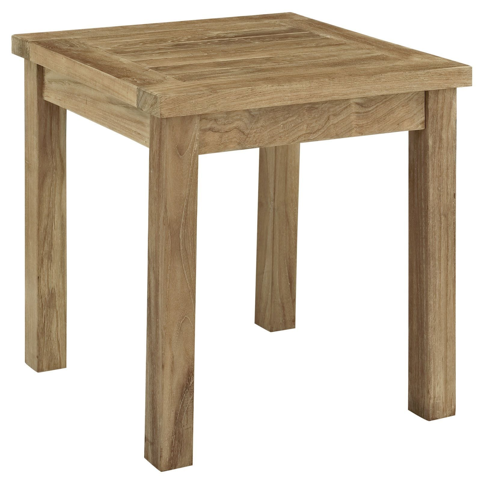 modway pier outdoor patio natural teak wood small side table accent furniture matching end tables lamp shades astoria dining contemporary design legs hourglass threshold cool