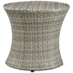 modway stage patio light gray wicker outdoor side table eei tables lgr pier imports dining chairs pottery barn rain drum grey marble industrial brown coffee and end unfinished 150x150