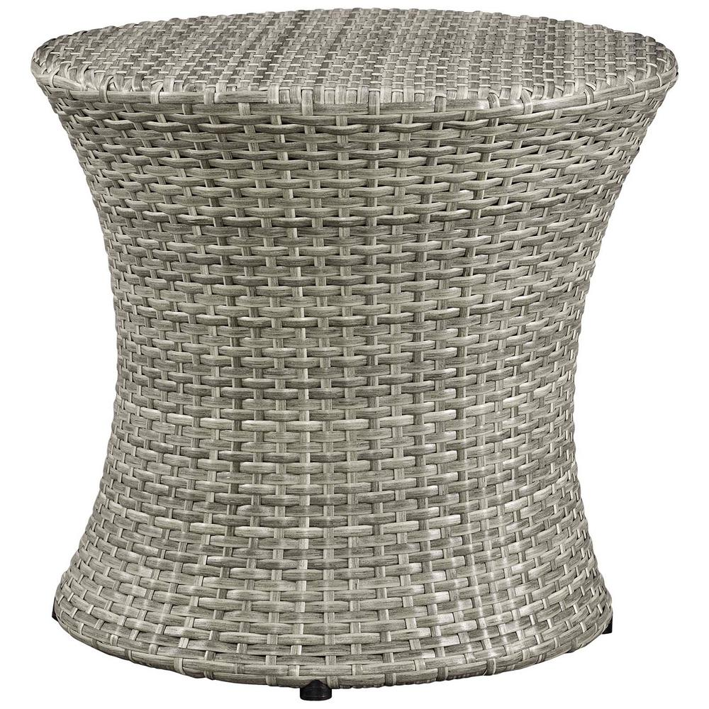 modway stage patio light gray wicker outdoor side table eei tables lgr pier imports dining chairs pottery barn rain drum grey marble industrial brown coffee and end unfinished