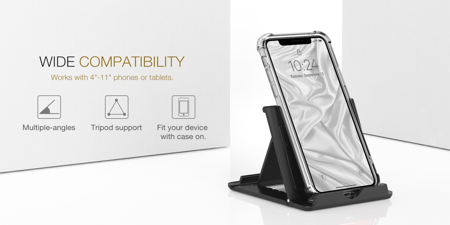 moko cellphone tablet stand foldable multi angle accent plus desktop holder for smartphone fit with iphone max galaxy metal and glass nightstand mosaic patio umbrella grey
