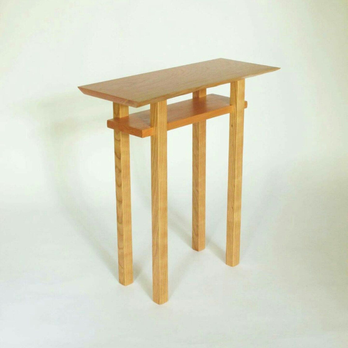 mokuzaifurniture shared new narrow table unique small accent tables this live edge cherry end the perfect for just about every space natural shape tree highlight top patio