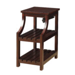 mom urban designs havana wooden accent side table with charging tables station espresso bar height patio set outdoor concrete extra thin console oversized coffee round cloth black 150x150