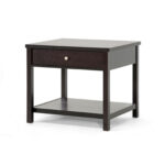 mom urban designs inch brown modern accent table and nightstand grey patterned armchair lamp with usb port teal console counter height rectangular dining patio umbrella base small 150x150