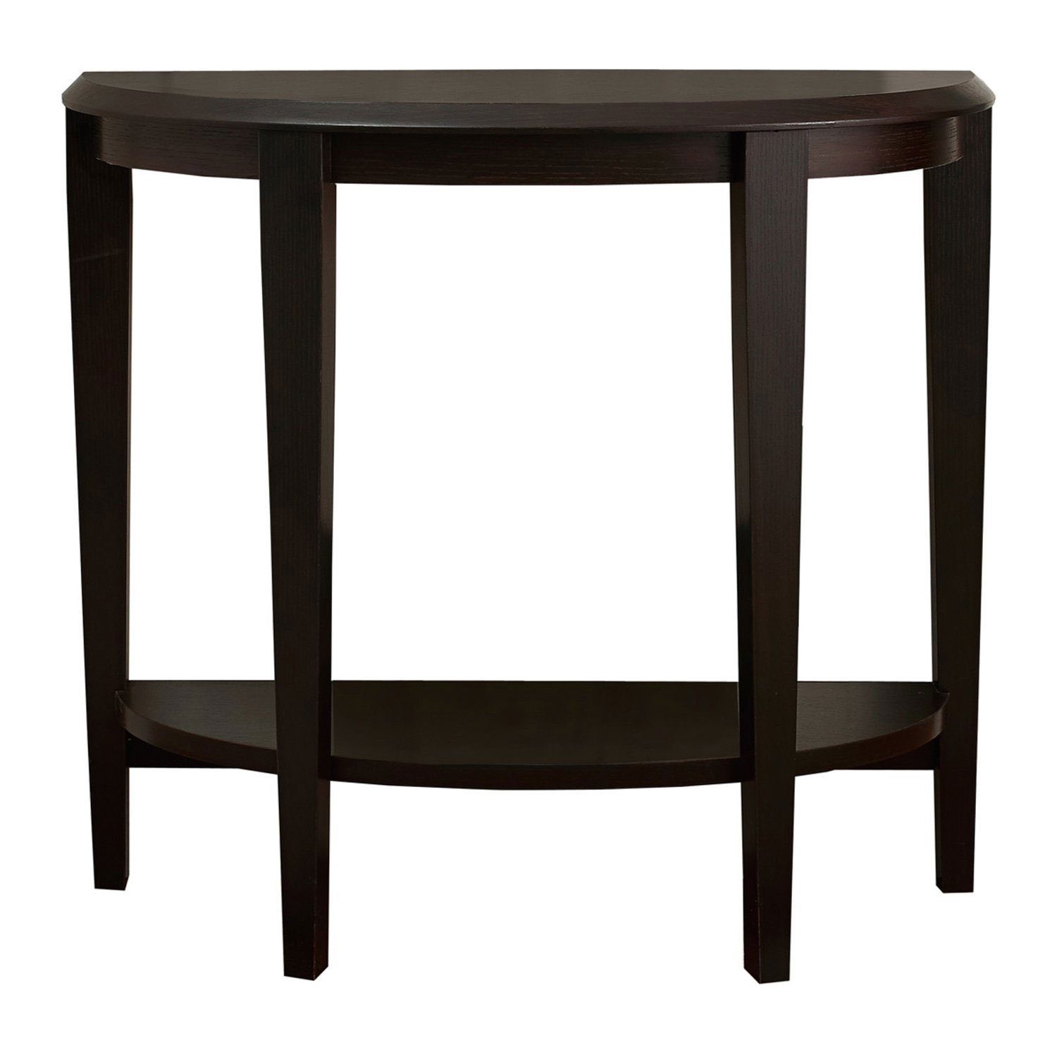 monarch accent table cappuccino hall console narrow depth raw pine furniture tall bar and chairs lamb wood iron coffee round glass chrome side brass end top inch tablecloth