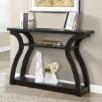 monarch accent table cappuccino hall console with drawers mirrored furniture black wrought iron patio side corner wine rack living room couches office collections copper desk lamp 150x150