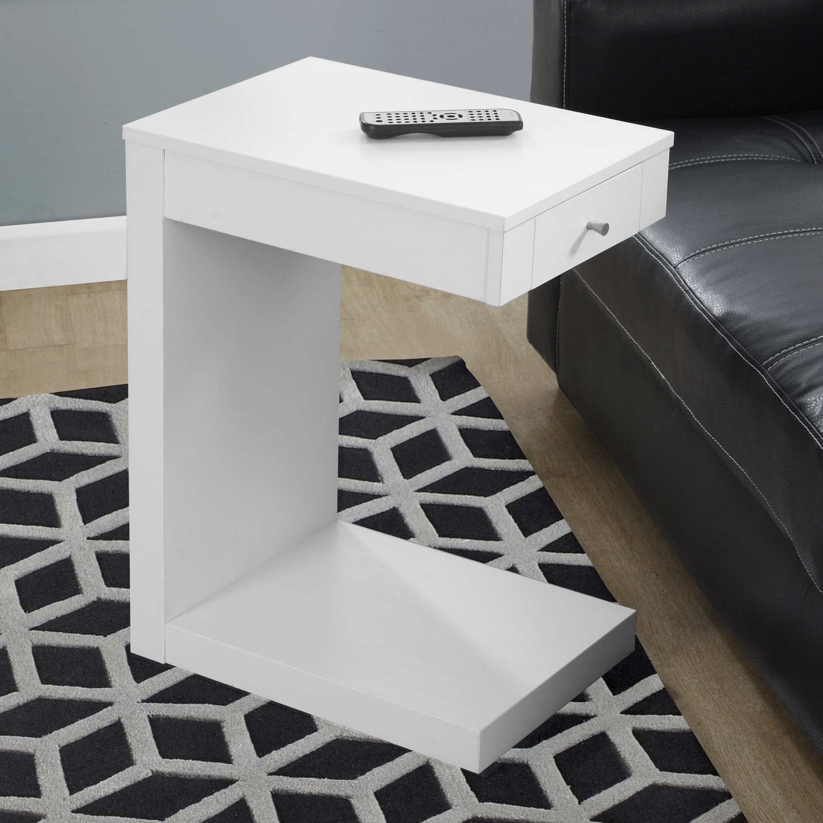 monarch accent table white with drawer modern wood end glass top living spaces tables marble dining bar height room sets inch pub how met your mother umbrella nautical hanging