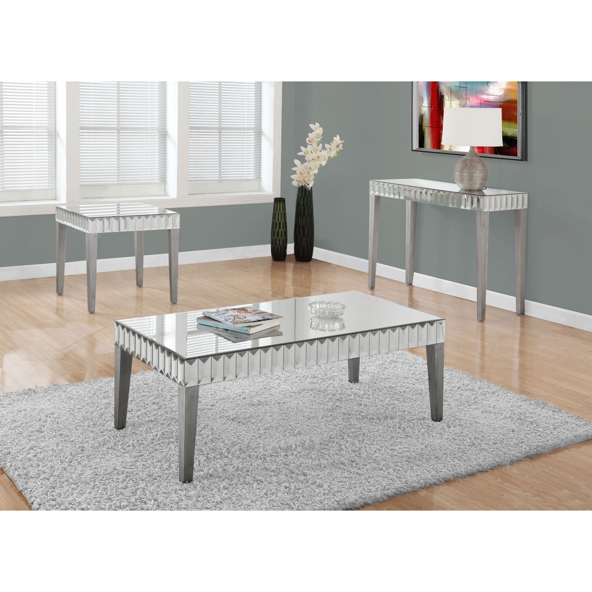 monarch coffee table brushed silver mirror mirrored accent bases for granite tops carved console ethan allen farm astoria patio dining set carpet dividers large antique wood