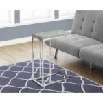 monarch grey cement and chrome metal end table the gray tables accent best cantilever umbrella small decorative chest drawers bar height chairs oversized large corner pier wooden 150x150