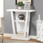 monarch hall console accent table inch white black lamp shades teak garden side round glass small coffee under dining tables toronto target mirrored tall end acrylic making legs 150x150