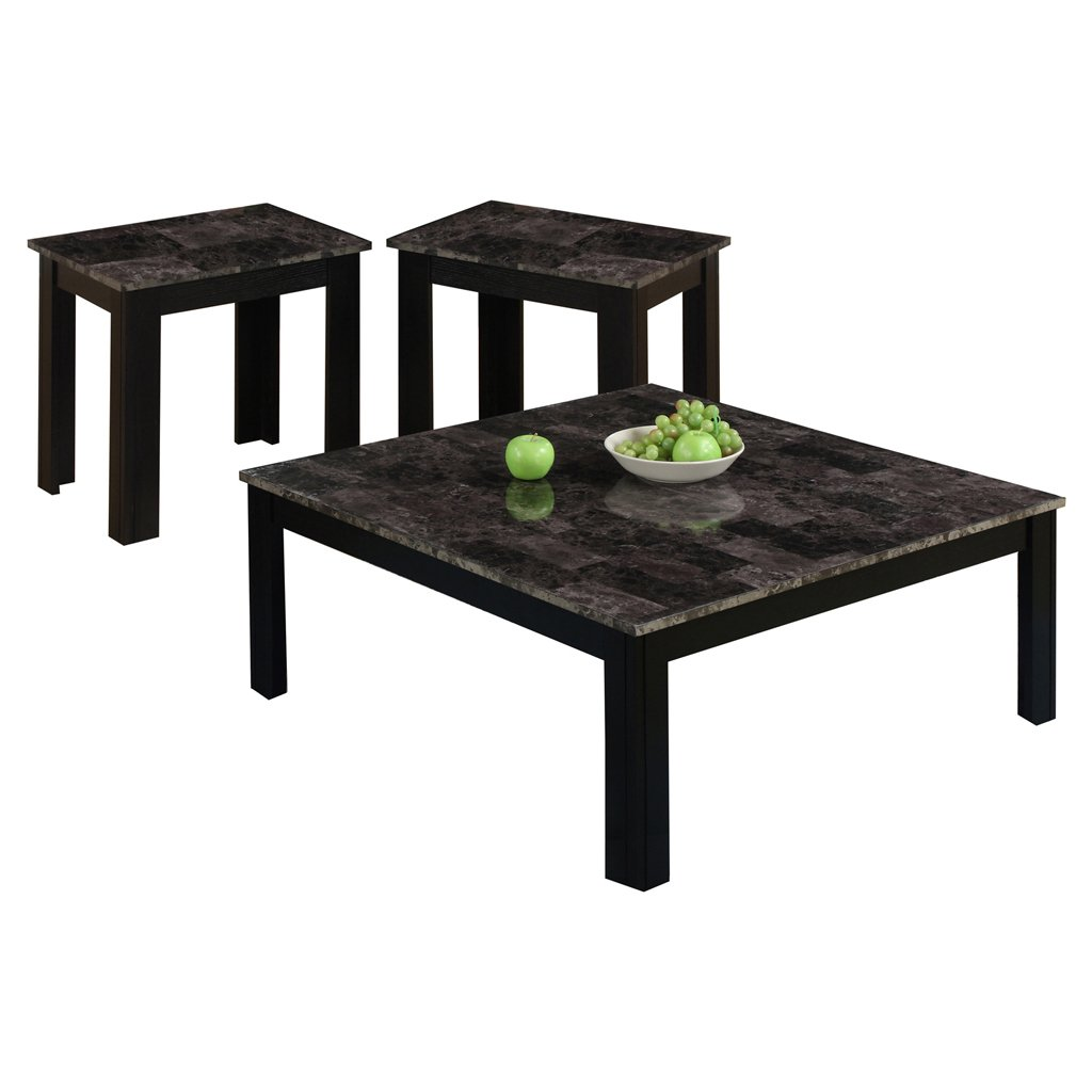 monarch marble look top piece square table set living room accent sets black grey kitchen dining wicker occasional tables large mosaic round patio white cloth tablecloths legs