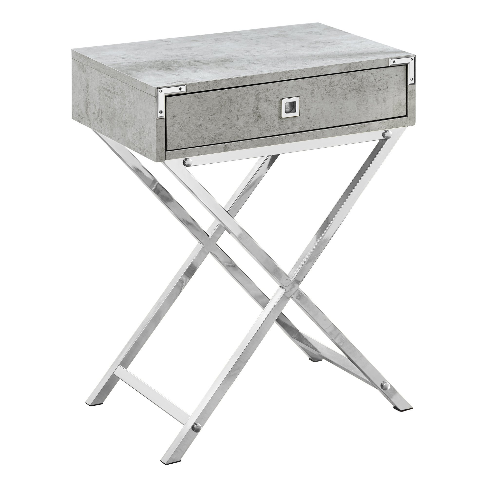 monarch mdf and metal accent table grey finish gwg floor threshold transitions large marble top coffee home goods end tables made small retro high back dining chairs smoked glass
