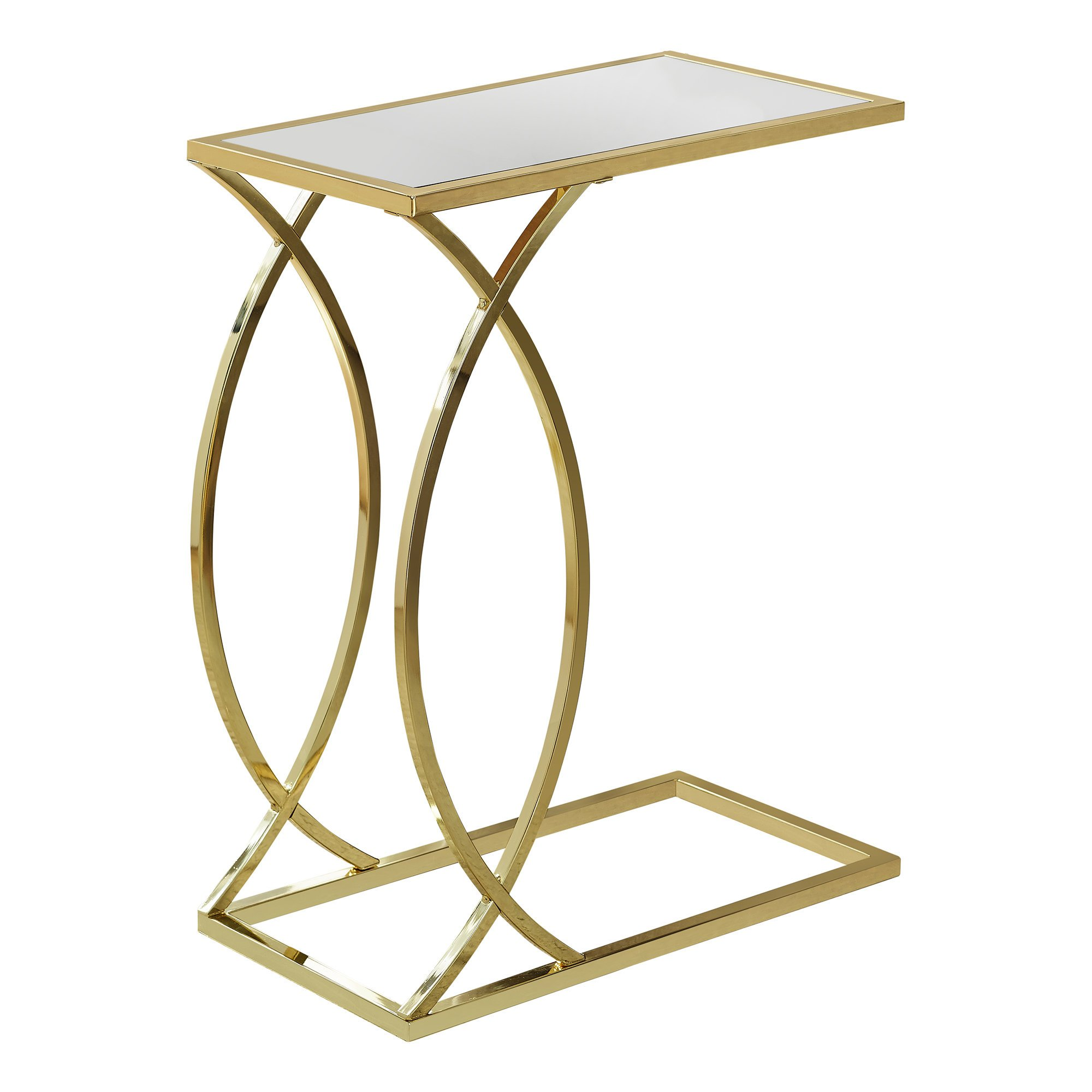 monarch metal and glass accent table gold finish gwg round pedestal dining gray coffee tan plastic tablecloths with top cherry wood bedroom furniture garage threshold seal ikea
