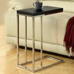 monarch rectangular chrome metal accent table cappuccino bentwood with tempered glass maximize space and made modern style dining area furniture round patio foyer console entryway 150x150